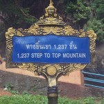Sign at Hill Temple in Krabi