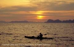 Phuket Tours - Sunset at Phang Nga bay during a Hong By Starlight Tour