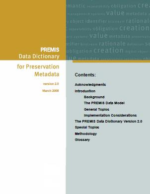 PREMIS Data Dictionary cover