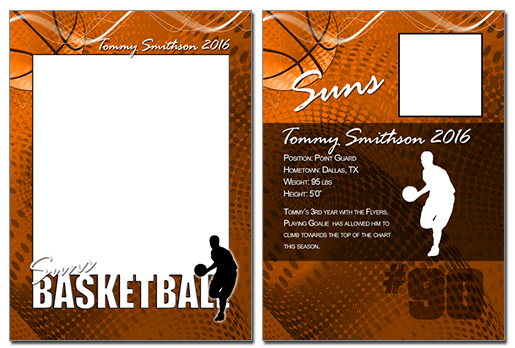 Basketball Cutout Trading Card Photoshop Amp Elements
