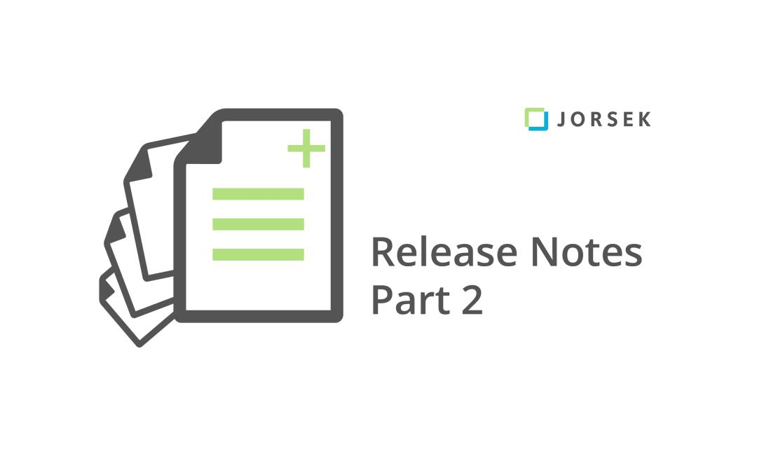 Webinar: Release Notes Part 2