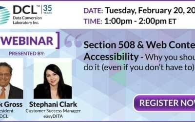 Webinar: Section 508 and Web Content Accessibility