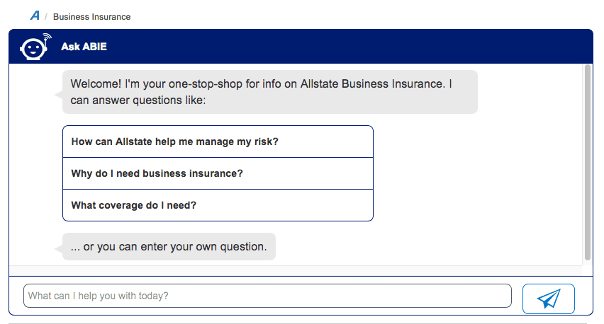 Allstate Insurance Creates Chatbot to Help Small Businesses