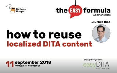 How to Reuse Localized DITA Content