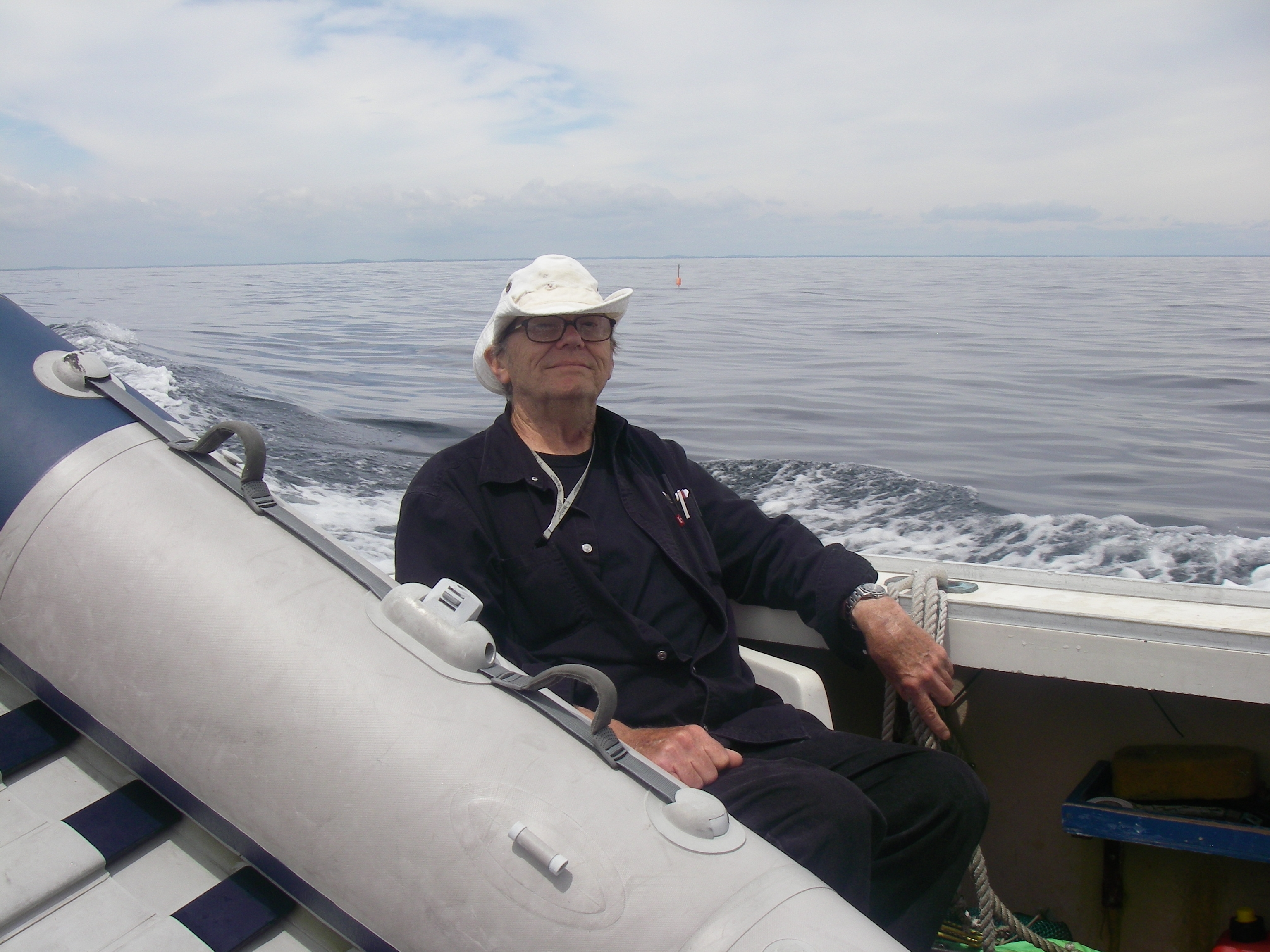 Flat, Calm Sea with Captain Fred on Duty