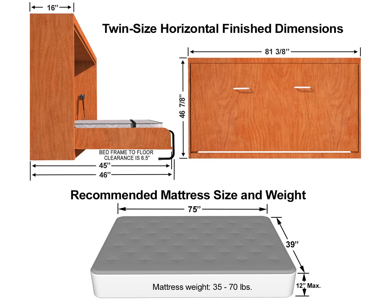 horizontal twin single size kit