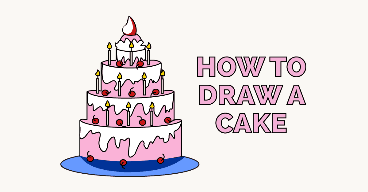 How To Draw A Cake Really Easy Drawing Tutorial