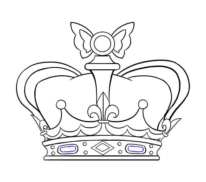 How To Draw A Crown In A Few Easy Steps Easy Drawing Guides