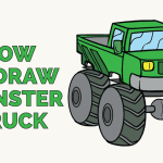 How To Draw A Monster Truck In A Few Easy Steps Easy Drawing Guides