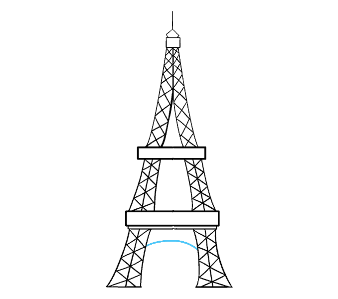 How To Draw The Eiffel Tower In A Few Easy Steps Easy Drawing Guides