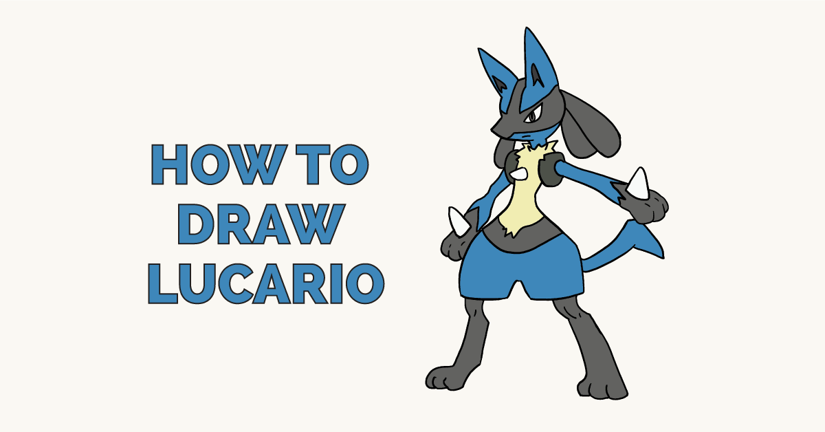 How To Draw Lucario Pokemon Really Easy Drawing Tutorial