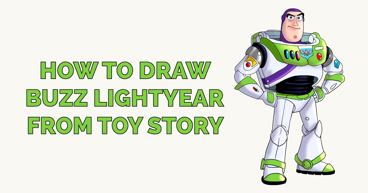 How To Draw Buzz Lightyear From Toy Story Really Easy Drawing Tutorial