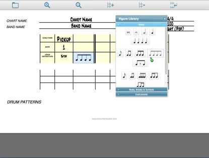 Drum Chart Builder A new drum charting software program. Designed by Liz Ficalora