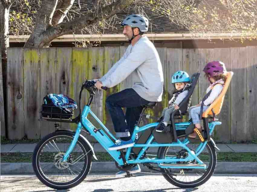 Easy E-Biking - cargo e-bike with kids, helping to make electric biking practical and fun