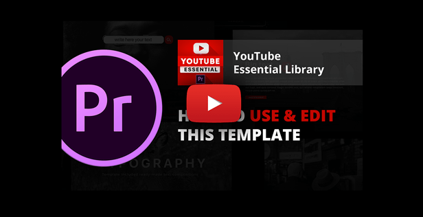 Youtube Essential Library | Premiere Pro - 13