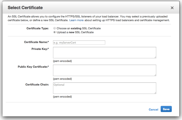 AWS-Certificate-Upload