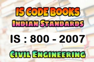 IS 800 - 2007 CODE Book