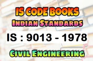 IS 9013 - 1978 CODE Book