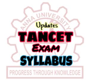 TANCET Exam Syllabus