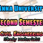 Anna University Civil Engineering Second Semester