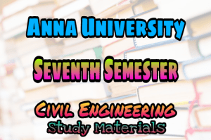 Anna University 7th Semester Collections