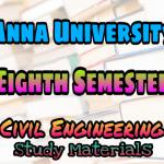 Anna University Civil Engineering Eighth Semester