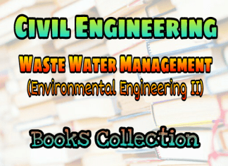Waste Water Management (Environmental Engineering - II) Books Collection