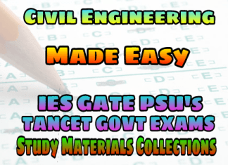 EasyEngineering Team Civil Engineering SSC AE AEE IES GATE PSU's TNPSC TRB TANCET & GOVT EXAMS Study Materials