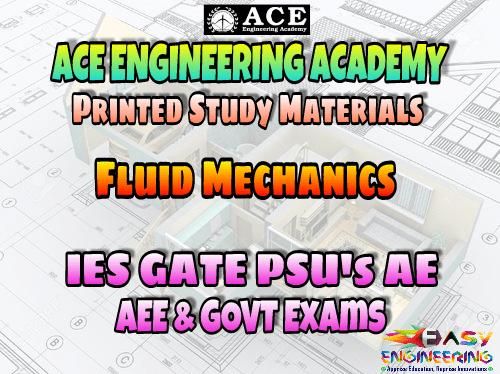 Fluid Mechanics Ace Engineering Academy GATE & PSU's Materials - Free Download