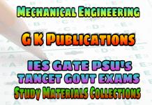 MECHANICAL ENGINEERING G K PUBLICATIONS GATE BOOK (GATE Guide Mechanical Engineering)– PDF FREE DOWNLOAD