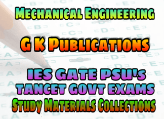 MECHANICAL ENGINEERING G K PUBLICATIONS GATE BOOK (GATE Guide Mechanical Engineering) – PDF FREE DOWNLOAD