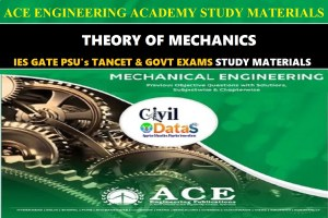 heory Of Mechanics ACE Engineering Academy Hand Written Notes
