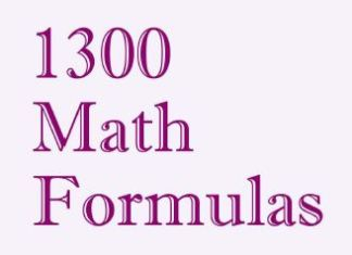1300 Math Formulas By Alex Svirin