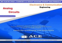 Analog Circuits - Ace Engineering Academy IES GATE PSU's TANCET & GOVT Exams Study Material For Electrical Engineering & Electronics Communication Engineering – PDF Free Download