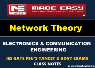 Network Theory EasyEngineering Team IES GATE PSU's TANCET & GOVT Exams Study Material For Electronics Communication Engineering – PDF Free Download