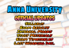 Anna University Study Materials Semester wise Collections, Anna University Semester Results, Anna University Current Semester Exam Time Table, Anna University Syllabus, Anna University Internal Mark Details And More News Updates