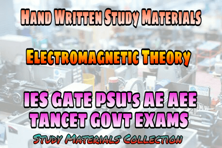 PDF] Electromagnetic Theory Handwritten Study Materials