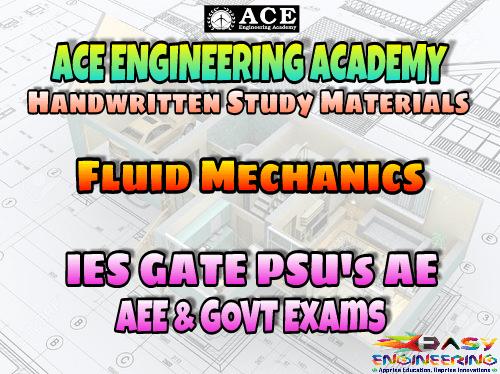 PDF] Fluid Mechanics and Hydraulic Machinery ACE Engineering Academy