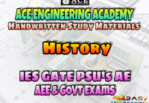 Ace Academy History AE AEE National & State Level Exams Handwritten Notes – PDF Free Download