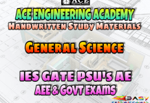 Ace Academy General Science AE AEE National & State Level Exams Handwritten Notes – PDF Free Download