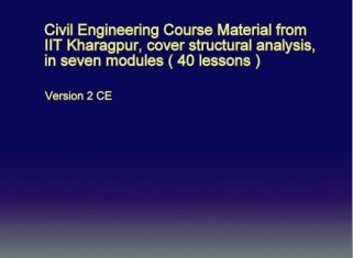 Structural Analysis - IIT Kharagpur Civil Engineering Course Material