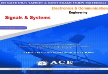 Signals & Systems Ace Engineering Academy IES GATE PSU's TANCET & GOVT Exams Study Material For Electrical Engineering – PDF Free Download