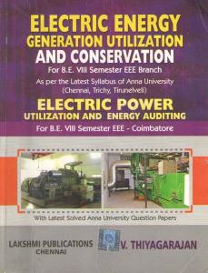 EE6801 Electrical Energy Generation, Utilization and Conservation