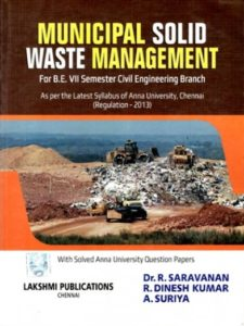 Municipal Solid Waste Management By Dr. R.Saravanan, Suchitra Publications