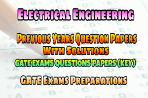 Electrical for pdf syllabus engineering exam gate