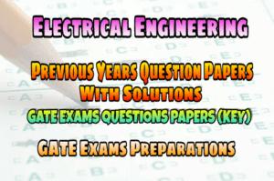 Electrical for pdf syllabus engineering exam gate