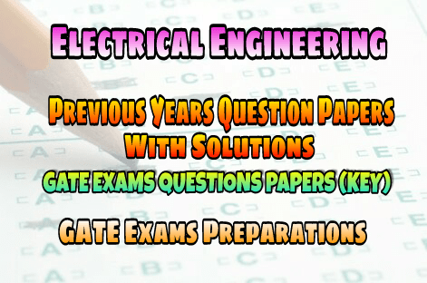PDF] Electrical Engineering GATE Previous Years Question