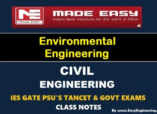 [PDF] Made Easy Environmental Engineering GATE IES TANCET & GOVT Exams Handwritten Classroom Notes Free Download