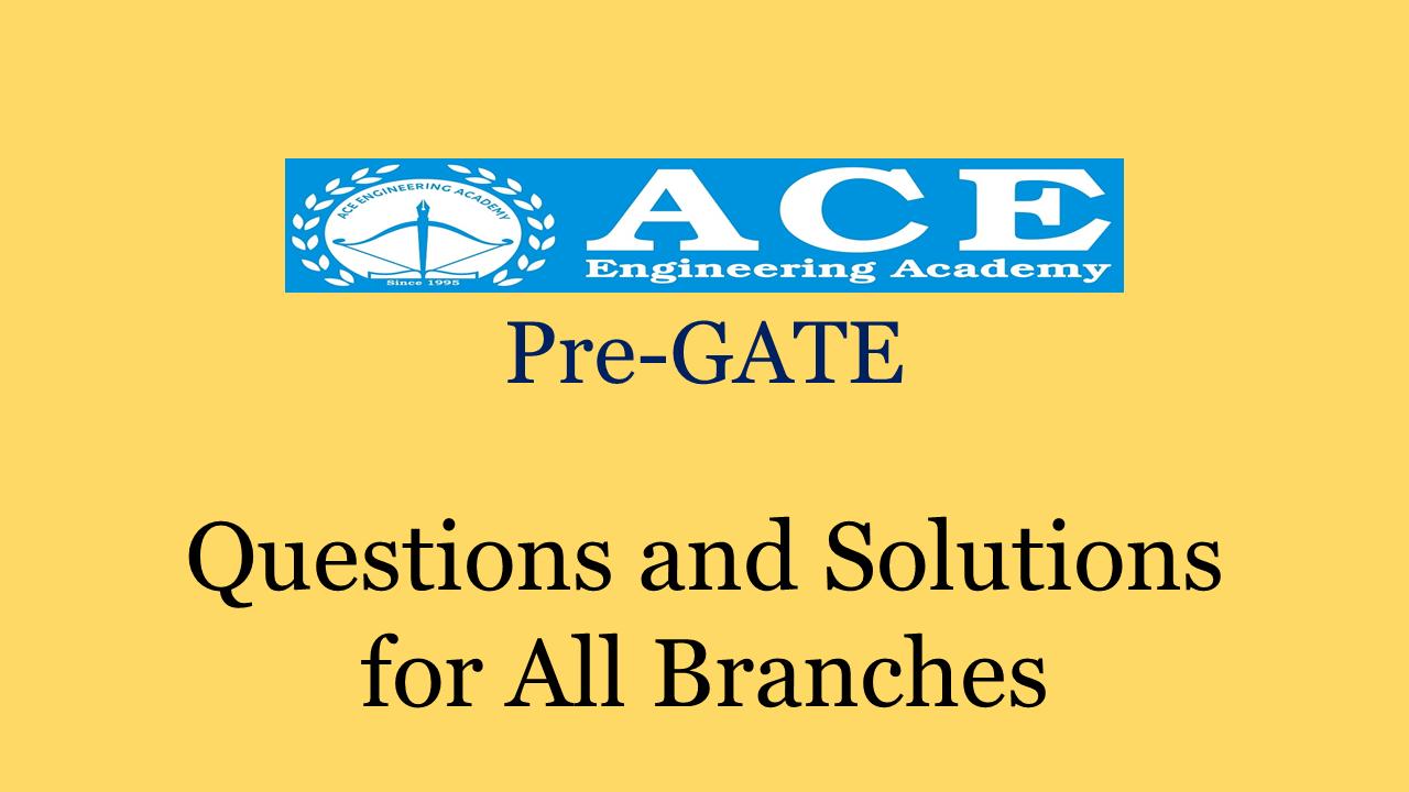 ACE Academy Pre-GATE 2018