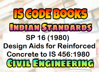 SP 16: Design Aids for Reinforced Concrete to IS 456:1980